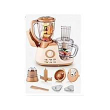 HE-2211-PBL - Multipurpose Food Processor With Blender Details - 700W - White/Brown