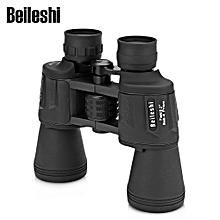 20X50 56M / 1000M HD Vision Wide-angle Prism Binocular Outdoor Folding Telescope - Black