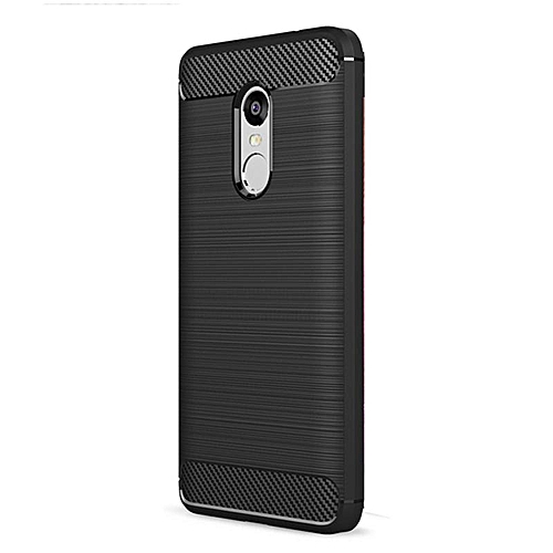 Silicone Carbon Fiber Rugged Brushed Case Soft TPU Shockproof Protective Armor Cover For Xiaomi Redmi Note