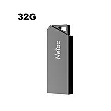 U325 USB2.0 Straight Insert Zinc Alloy USB Flash Disk 32GB