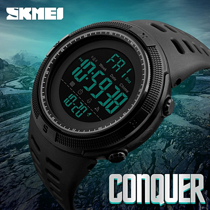 9bac4503d15 SKMEI 1251 Ready Stock Men Outdoor Watches Countdown Double Time Watch  Alarm Digital 50M Waterproof Wristwatches