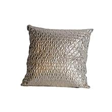 Snake Skin Pattern Pillow - Large - Metallic Shiny