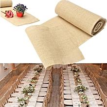 10m Hessian Burlap Table Runners Vintage Rustic Natural Wedding Party Jute Decor