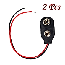 2Pcs 9V Battery Connector Snap Clip Ends Wire Plug Leads 9V Battery Connectors