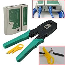 Network Tool Kit Cable Tester Crimp Crimper Plier RJ45 RJ11 RJ12 CAT5 LAN