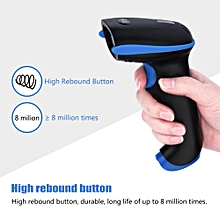 Barcode Scanner USB Handheld Wireless Bluetooth Scanner Reader for iOS Android Windows Blue