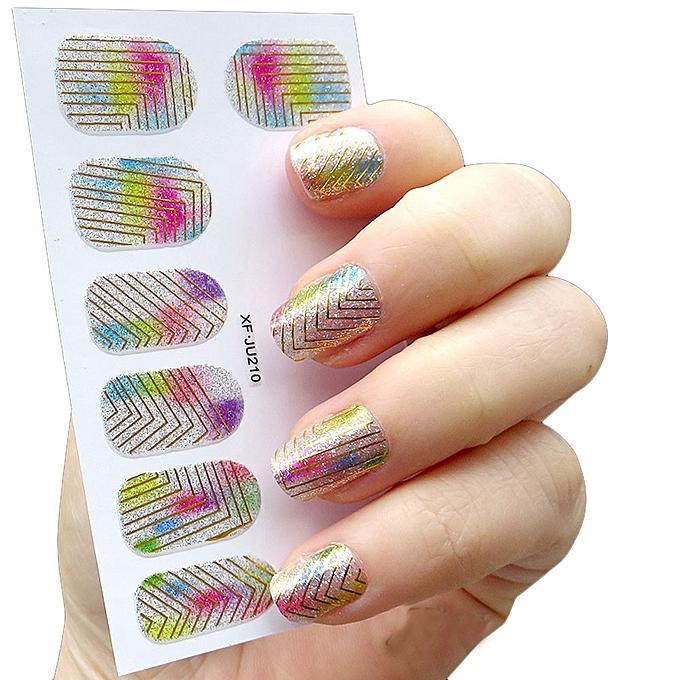 Buy Zlime Womens Diy Nail Sticker Water Transfer Stickers Finger