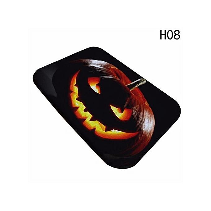 anti slip halloween pumpkin kitchen rugs carpet floor mat h08