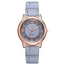 Watch Women Fashion Luxury Leisure Set Auger Leather Stainless Steel Quartz Watch -Sky Blue