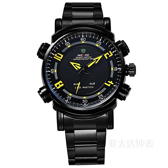 Weide Men S Watches Minimalist Quartz Watch Led Watch Male Business