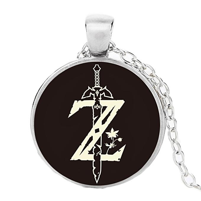 Buy fashion 1pc stainless steel symbol hyrule legend of zelda 1pc stainless steel symbol hyrule legend of zelda pendant chain necklace aloadofball Choice Image