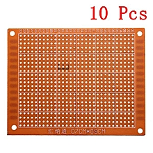 10pcs 7 x 9cm PCB Prototyping Printed Circuit Board Prototype Breadboard Stripboard