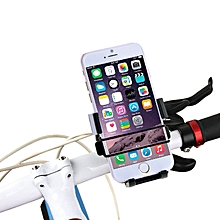 360 Degree Rotation Universal Bike Mobile Phone Mount Holder for iPhone, Galaxy, Huawei and other smart phones, Clamp Size: 49mm-75mm(Black)