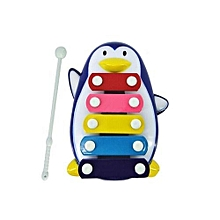 Baby Kid 5-Note Xylophone Musical Toys Wisdom Development Penguin -Blue