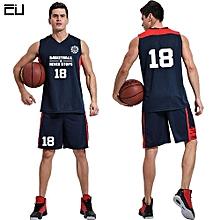 cd688e701 Customized Blank Men  039 s Basketball Team Sport Jersey Shirts Shorts  Uniform-Dark