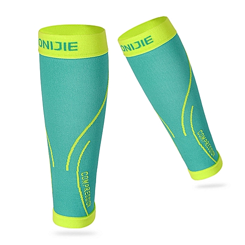 964870b4fb AONIJIE Running Socks Professional Compression Leg Sleeve Shin Guard  Cycling Leg Warmers Football Basketball Sports Calf Support(Green)