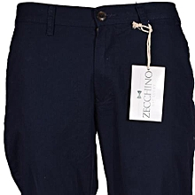 Smart Navy Mens Slim Fit Khaki Trousers