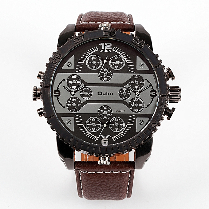 Man S Watch Oulm Four Grounds Of World Time Recreational Cur