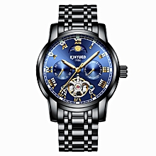 JYD-J028 Wrist Watch Automatic Mechanical Brand Male Wrist luminous Wrist High-grade Stainless Steel Water Proof Automatic Self-Wind Band Watch with Gift Box