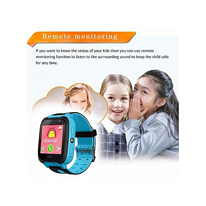 RYT V6 Children Smart Watch Security Smart Watch Phone With SIM Card Smart  Clock LBS Tracker CamBluetooth Anti Lost Monitor SOS Call For IOS Android