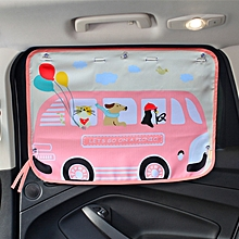Pink Bus Pattern Car Large Rear Window Sunscreen Insulation Window Sunshade Cover, Size: 70*50cm