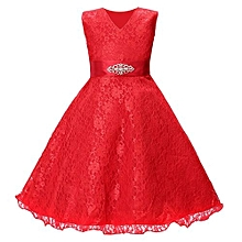 Lace Kids Girl Dress Princess Formal Pageant Gown Party Wedding Bridesmaid Dress