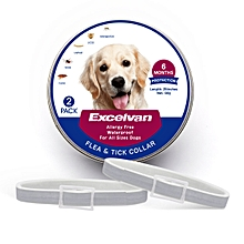 Flea and tick collar for dogs-2 pack - Gray