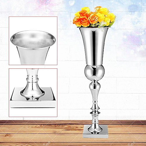 Buy Universal Large Stunning Silver Iron Luxury Flower Vase Urn