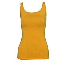 Women Yellow Stretch Camisole Vest