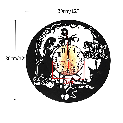 182338883008 nightmare before christmas 2 vinyl record clock home decor gift
