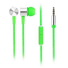 Olivaren Universal 3.5mm In-Ear Stereo Earbuds Earphone With Mic For Cell Phone  -green