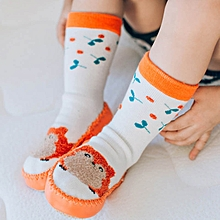 c149a9d64b2 1 Pair Baby Cartoon High Shoes Boy Girl Socks Soles Cotton Walkers Indoor  Floor Socks Infant