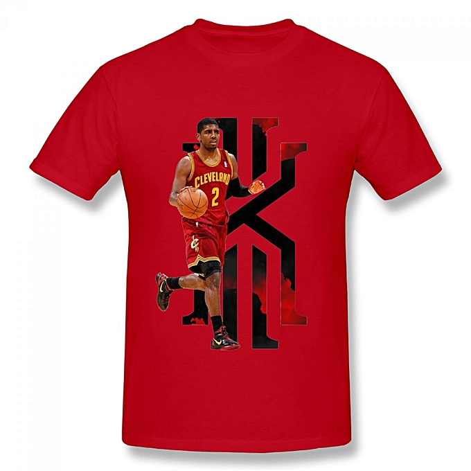 quality design 81364 f6369 Cleveland Cavaliers Kyrie Irving Men's Cotton Short Sleeve Print T-shirt Red