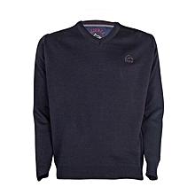 Navy Blue Men's Sweater