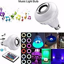 Light Bulbs-LED RGB White Color Music Light Bulb-E27 Wireless Smart Dimmable