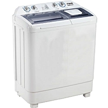 Twin Tub Semi-Automatic Top Load Washing Machine, 7Kg - MWM12107 - White