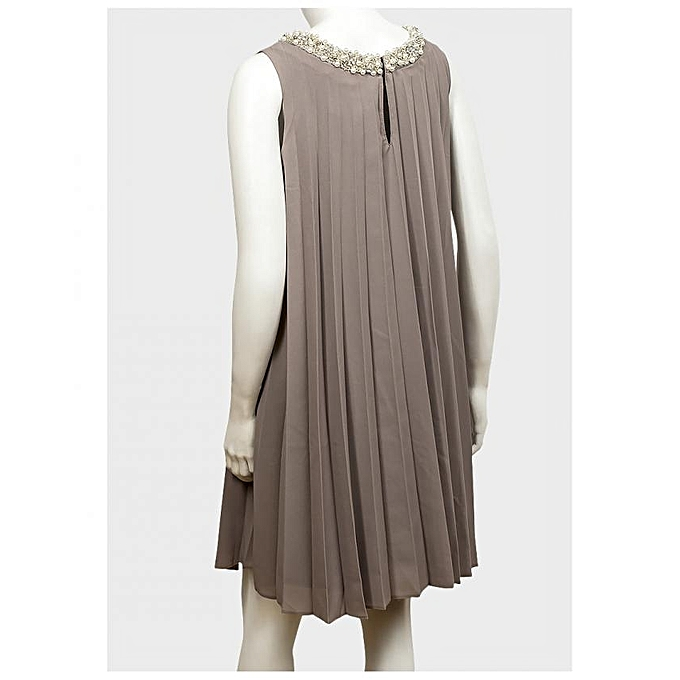 Buy Generic Mushroom Pleated Maternity Dress @ Best Price ...