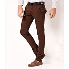 Khaki Trouser Pant - Brown - Straight Slim Fit
