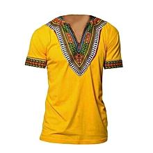 Yellow Africa Kitenge Shirt