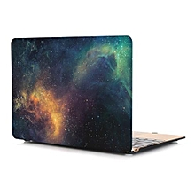 """For 12"""" Macbook Case, Starry-sky Hard Rubberized Cover For A1534 Macbook 12 Inch, Yellow"""