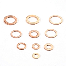 200Pcs Solid Copper Washer Flat Ring Sump Plug Oil Seal Assorted Set Box