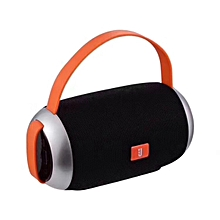 Portable Wireless Bluetooth V4.2 Stereo Speaker with Rope, with Built-in MIC, Support Hands-free Calls & TF Card & AUX IN & FM, Bluetooth Distance: 10m-Black