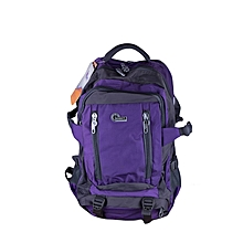Waterproof Nylon Backpack - Outdoor Sports Hiking Bag - Gym Bag - Folding Bag - Purple