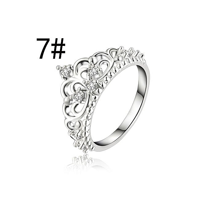 buy generic princess queen crown ring design wedding crystal size 7