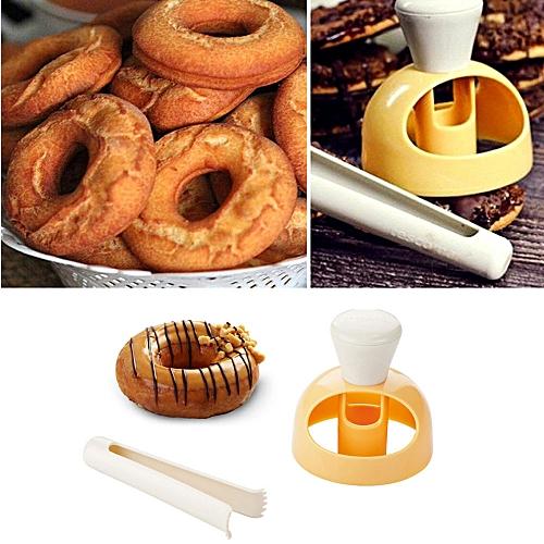 Fashion TEC Mold Fondant Cake Plastic Bakery Doughnut DIY Fried Donut Maker Cutter