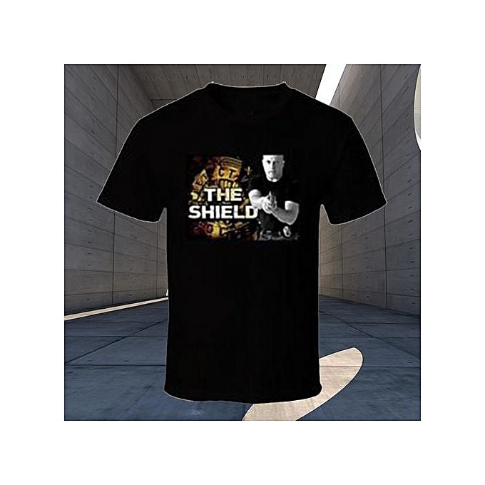 1bbc7c0f7 Men Short Sleeve T Shirts The Shield Vic Makey Police Strike Team Printed  Graphic Man Fashion