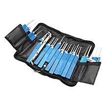 DANIU Practical 34 in 1 Multi-function Lock Pick Set Unlocking Tool Lock Pick Tools