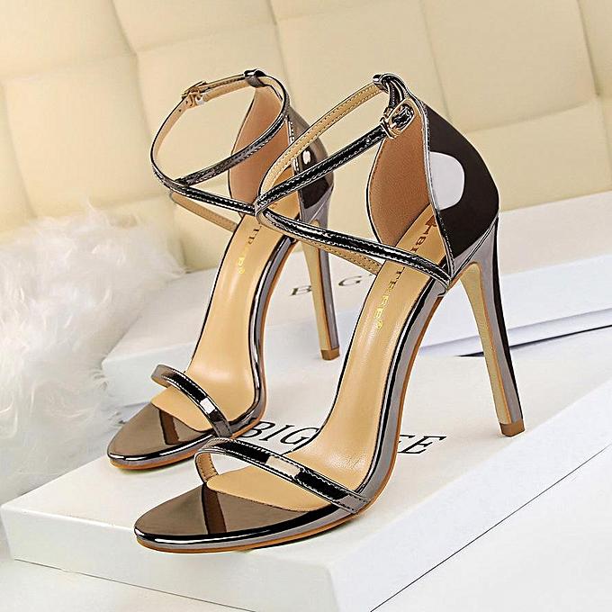 0c4d05d261 Fashion Heeled Sandals Cross-Strap Gladiator Sandals Women Peep Toe High  Heels Stiletto Party Women