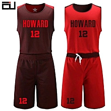 6501e5253 Men  039 s Customized Team And Numbers Basketball Sport Jersey Uniform-Red(