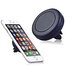 Universal Car Magnetic Air Vent Mount Clip Holder Dock For Smart Phones - Black